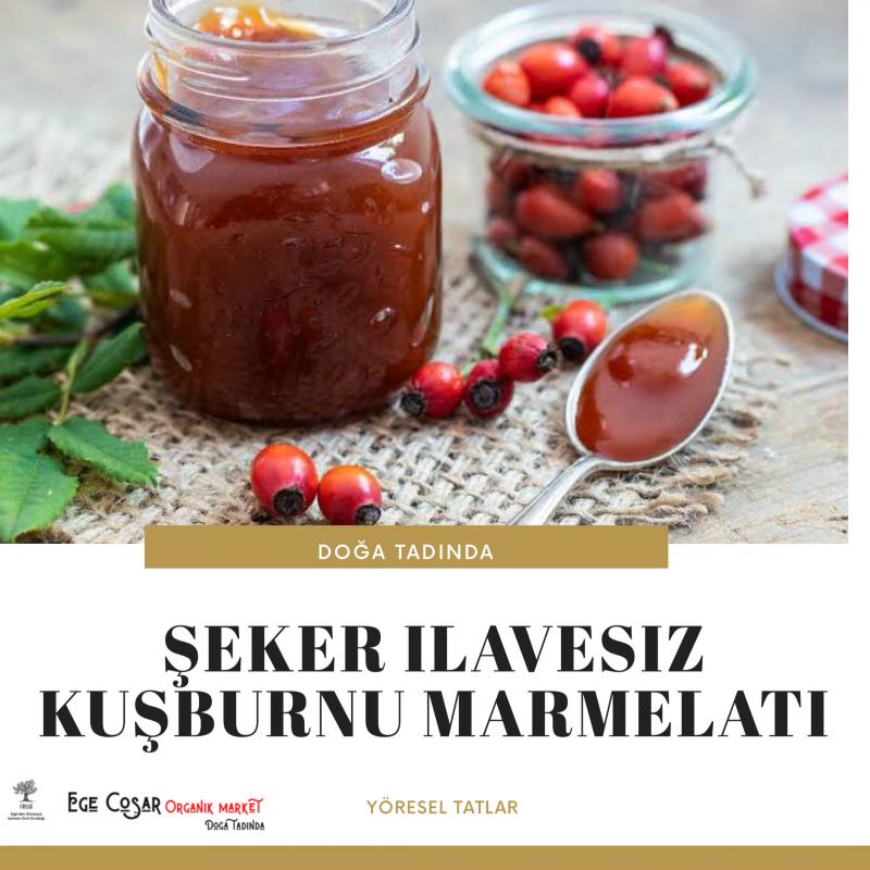 ŞEKERSİZ KUŞBURNU MARMELATI - NET 800 GR
